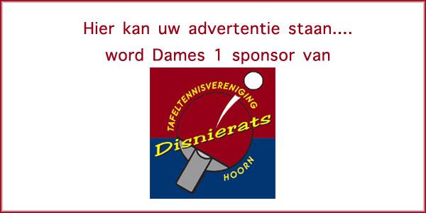 Word sponsor van Dames 1
